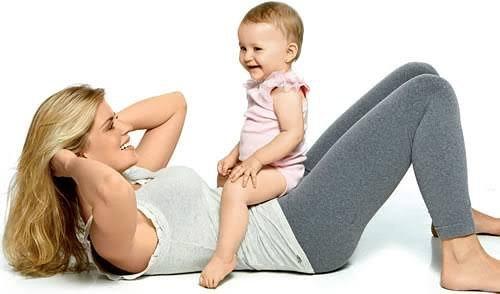 Corpo em forma depois da gravidez.