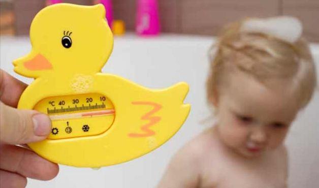 Temperatura do banho do bebé