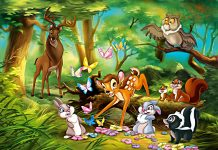 A história do Bambi no bosque