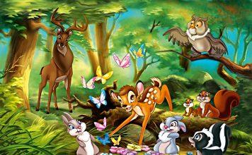 A história do Bambi no bosque