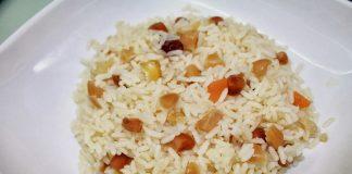 Pudim de arroz e frutos secos