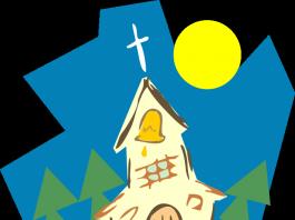 Vi chegar o sol na igreja do rouxinol