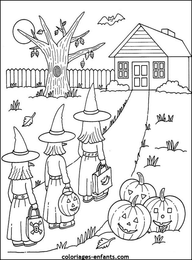 Desenho para imprimir halloween - abóboras