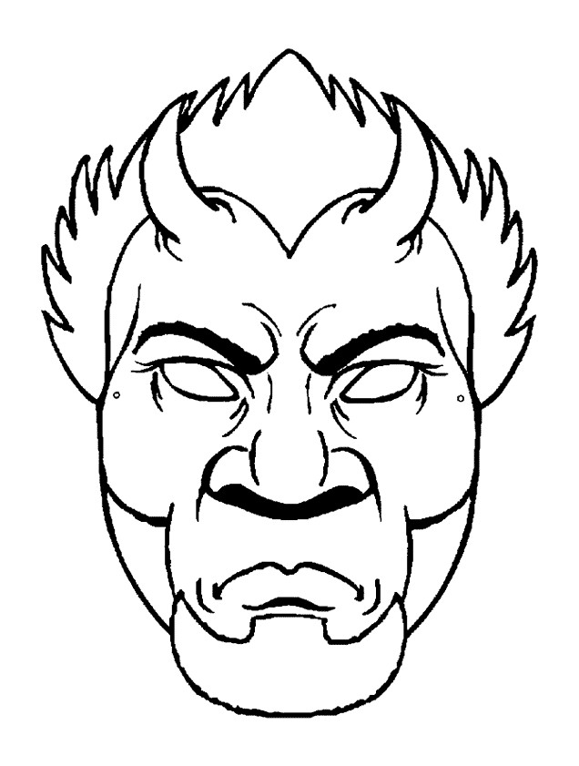 Mascara de halloween - monstro muto feio
